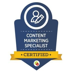 Digital Marketer Content Marketing Specialist Badge | Musselwhite Marketing