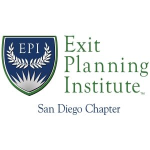 exit planning institute logo for san diego chapter on white background