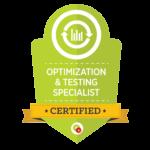 Optimization Testing Specialist Badge
