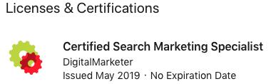 Musselwhite Marketing Digital Marketer LinkedIn Certification