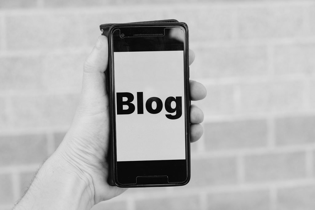 blog, smartphone, blogger