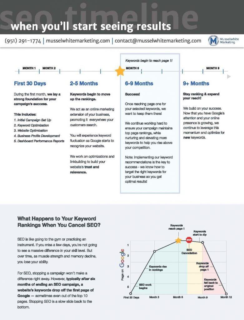 SEO Timeline | Musselwhite Marketing