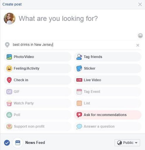Ask Recommendations Facebook - Musselwhite Marketing