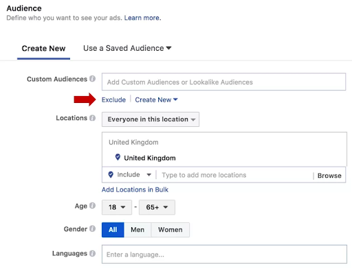 Facebook audience - Musselwhite Marketing