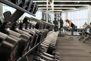 Photo: someone working out in a gym or fitness center