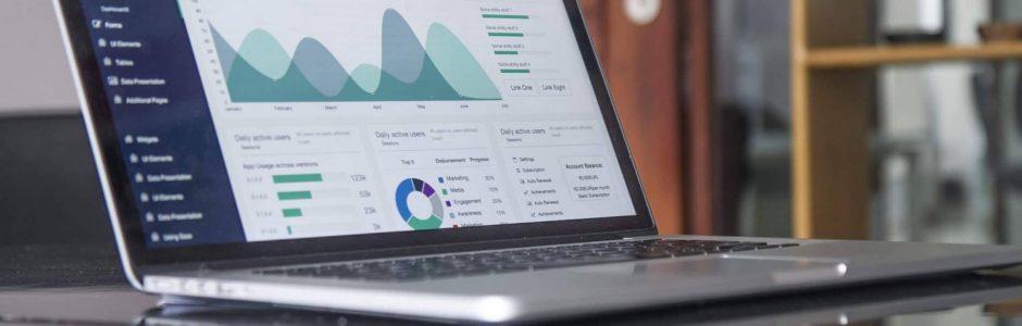 Photo: Photo of computer showing Small Business Marketing Analytics